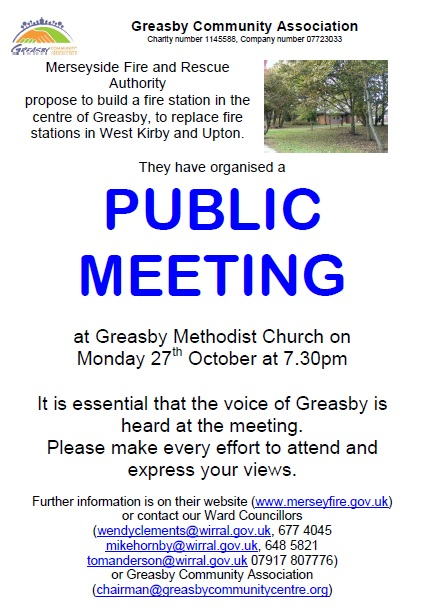 Greasby Fire Station meeting